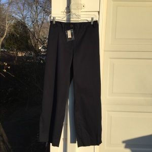 "NWT Talbots ""The Perfect Crop"" Navy Blue Pant"